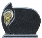 Tablica na pomnik cmentarny, rzeźba Chrystusa