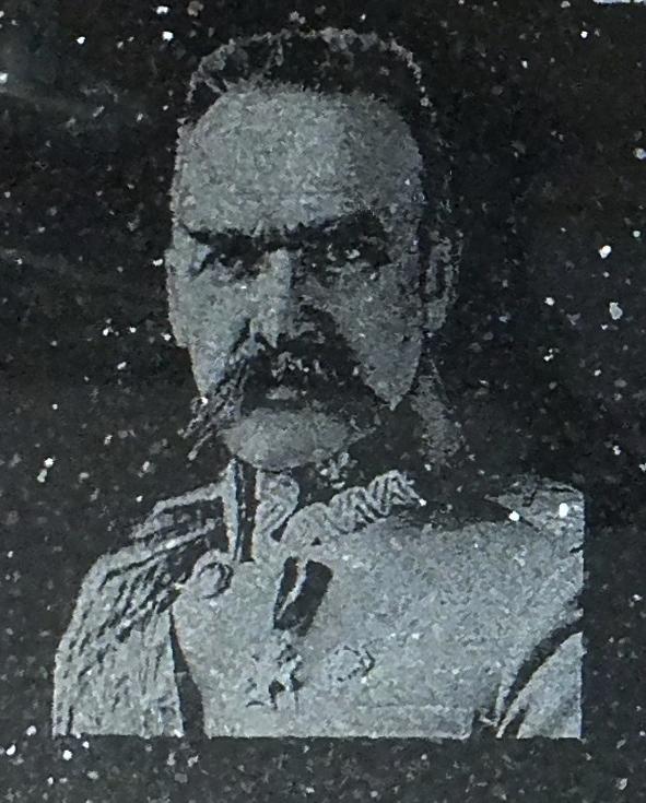Portret grawerowany w kamieniu