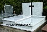 Pomnik cmentarny podwójny jasny, dwupłytowy
