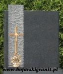 tn02 Tablica na nagrobek z ciemnego granitu