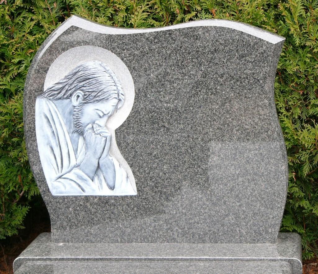 Płaskorzeźba na pomnik cmentarny