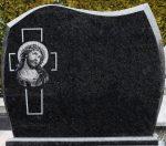 Tablica na pomnik z grawerowanym wizerunkiem Jezusa
