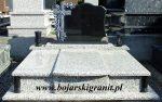"""nr 8 Nagrobek podwójny granit """"Crema Julia"""" tablica czarna rzeźbiona"""