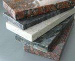Parapety granitowe wewnętrzne i zewnętrzne, różne kolory kamienia