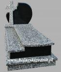 31d Pomnik czarno-szary pojedynczy z krzyżem 31d