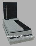 Nagrobek szaro-czarny granitowy